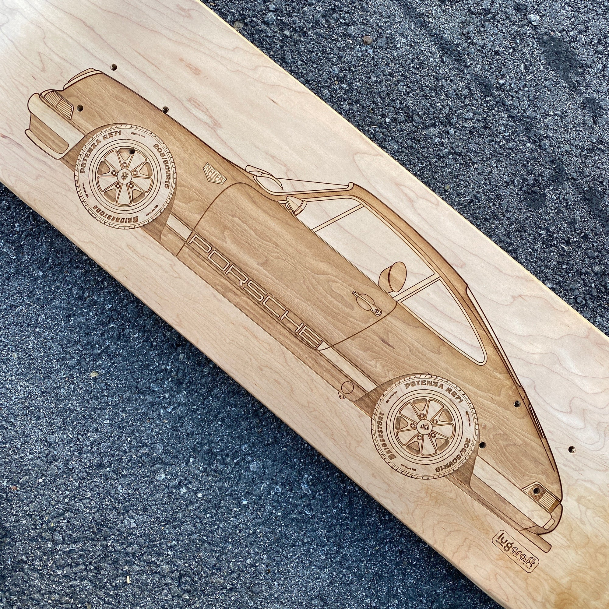 PO 911 Heuer Skateboard Wall Art - Natural Maple