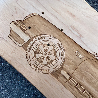 PO 911 Heuer Skateboard Wall Art - Natural Maple - Lugcraft