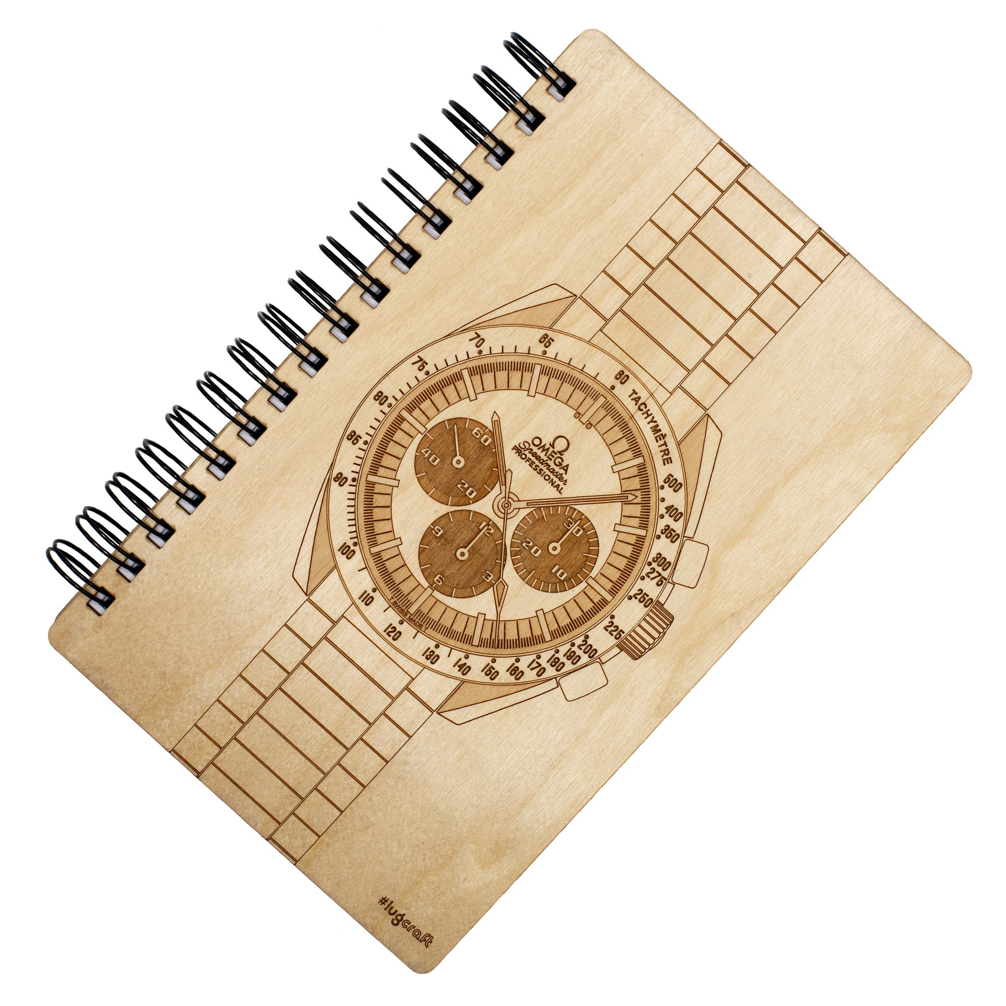 "Omega Speedmaster Birch Notebook - 6"" x 9"" - Lugcraft Inc"