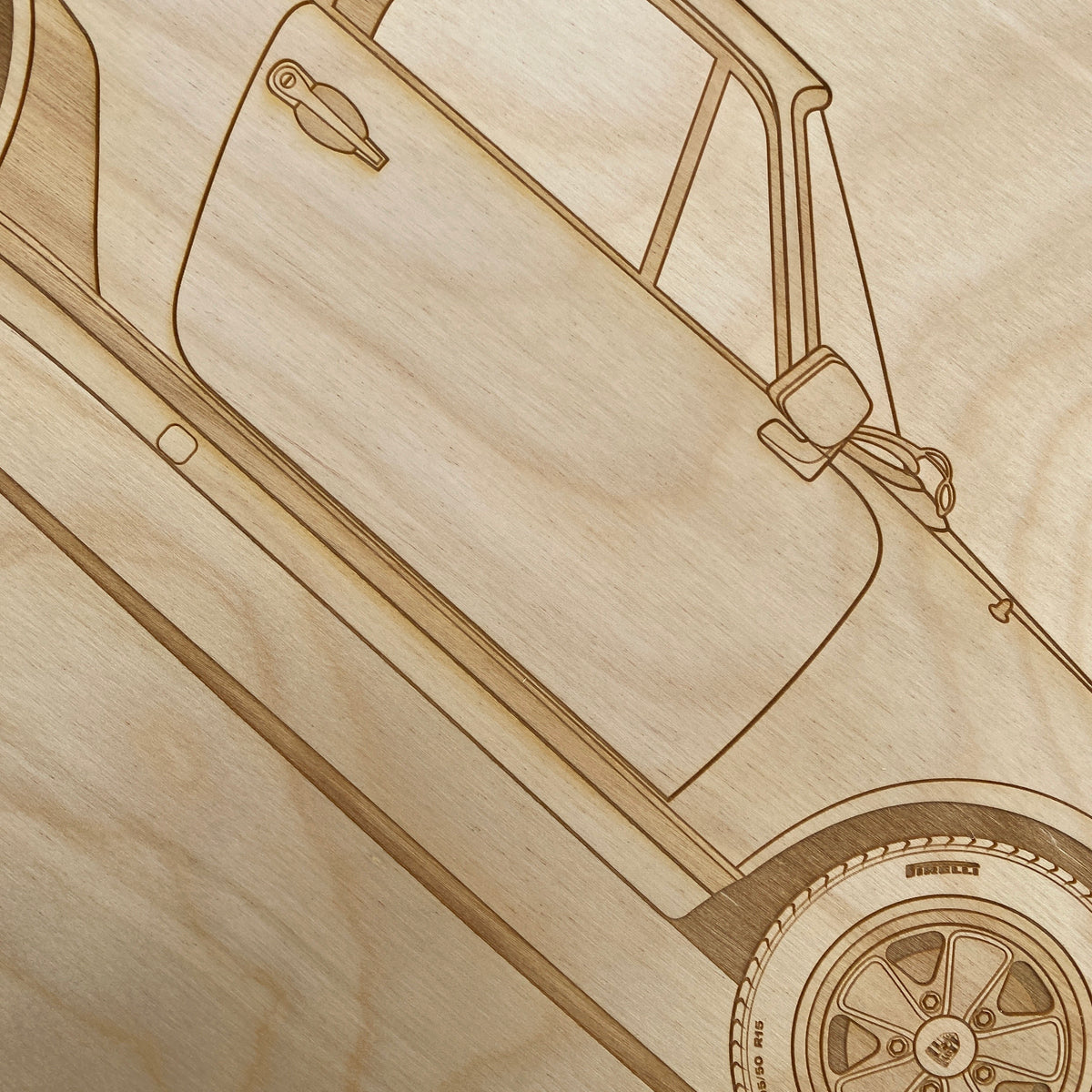 Porsche 930 Turbo Framed Wood Engraved Artwork