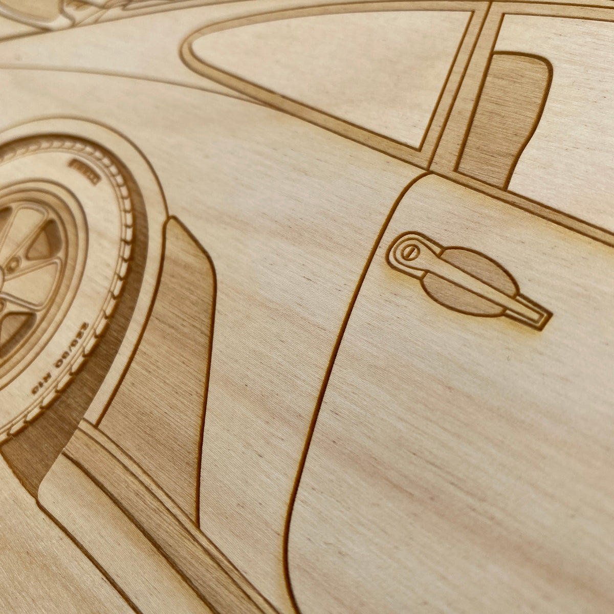 Porsche 930 Turbo Framed Wood Engraved Artwork - Lugcraft