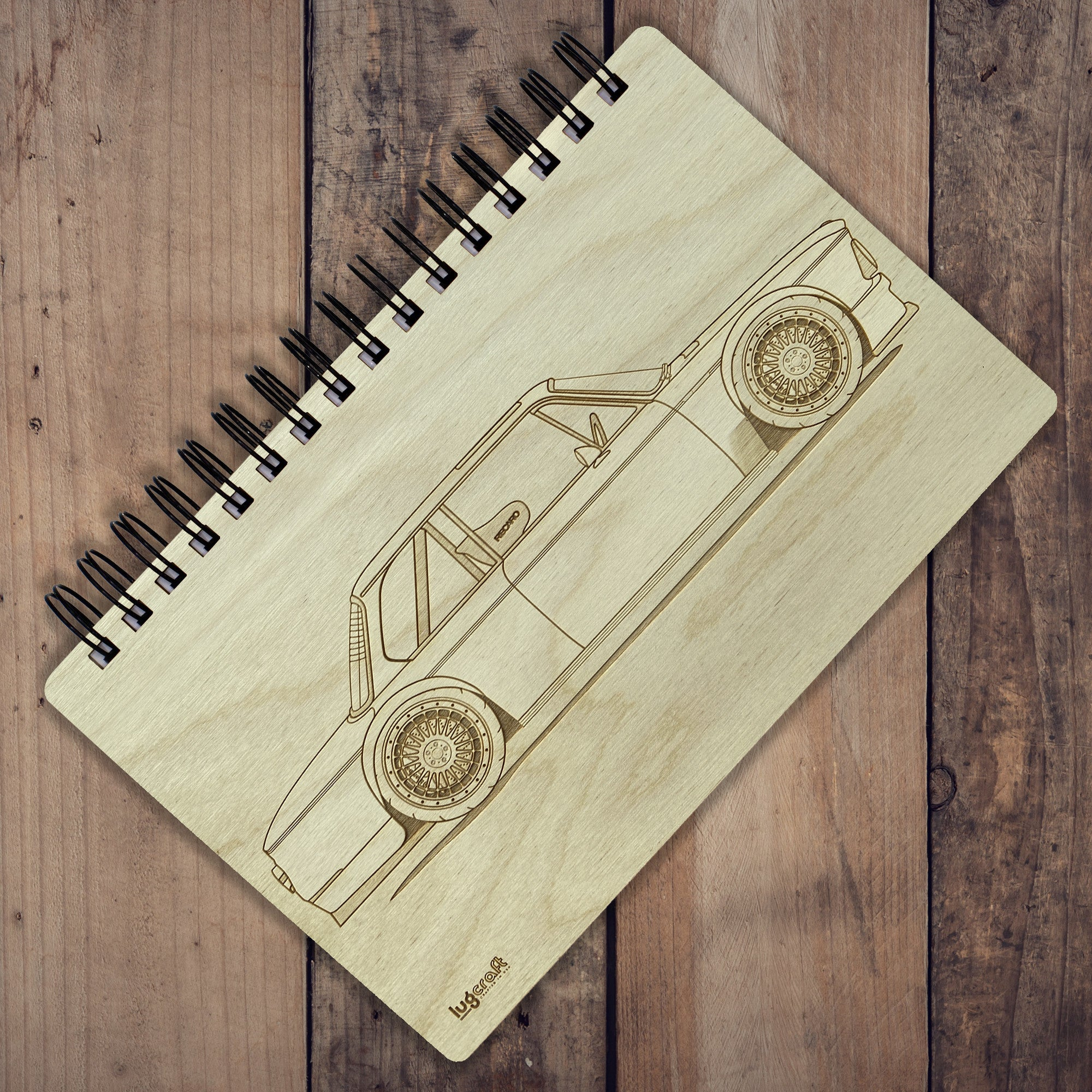 "BMW 2002 Engraved Notebook - 6"" x 9"" - Lugcraft Inc"