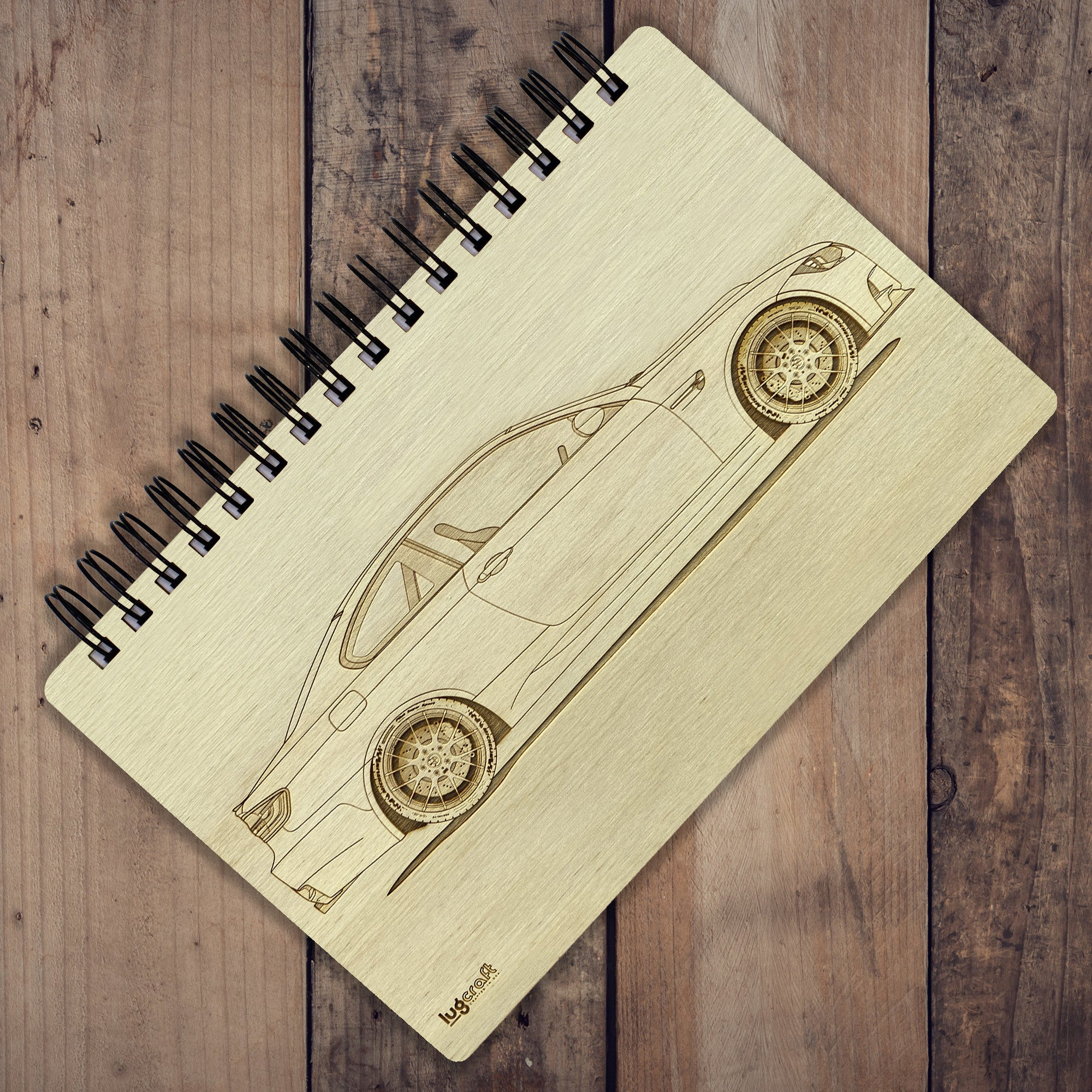 "BMW M3 E92 Engraved Notebook - 6"" x 9"" - Lugcraft Inc"