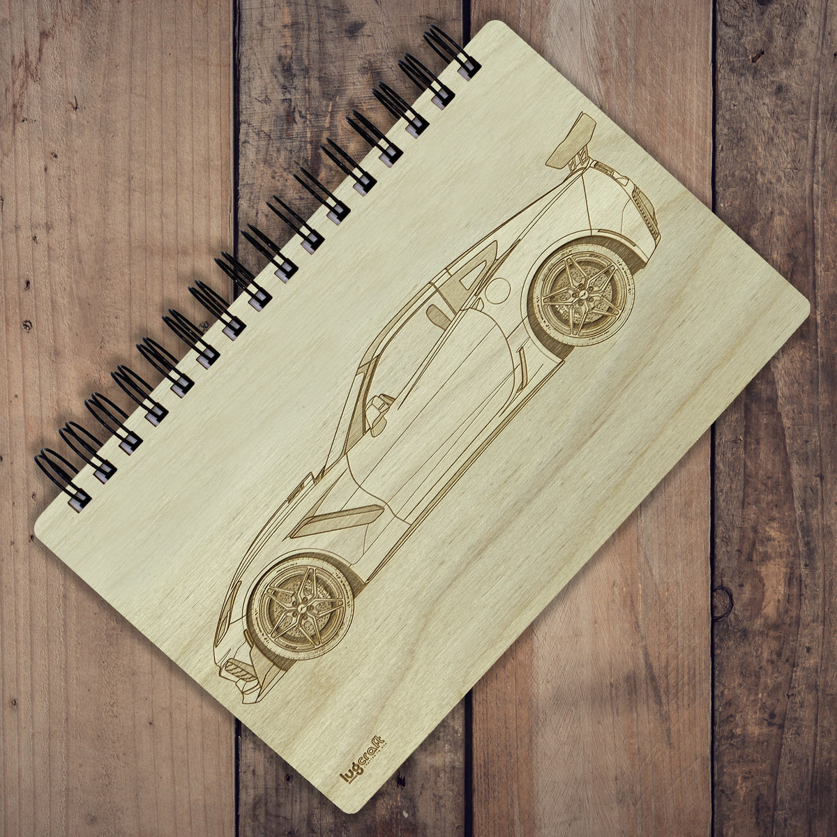 "Chevy Corvette ZR1 C7 Engraved Notebook - 6"" x 9"" - Lugcraft Inc"