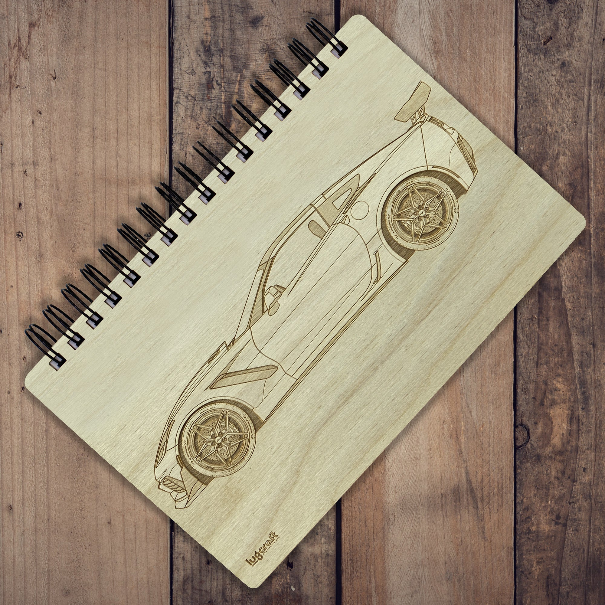 "Chevy Corvette ZR1 C7 Engraved Notebook - 6"" x 9"" - Lugcraft"