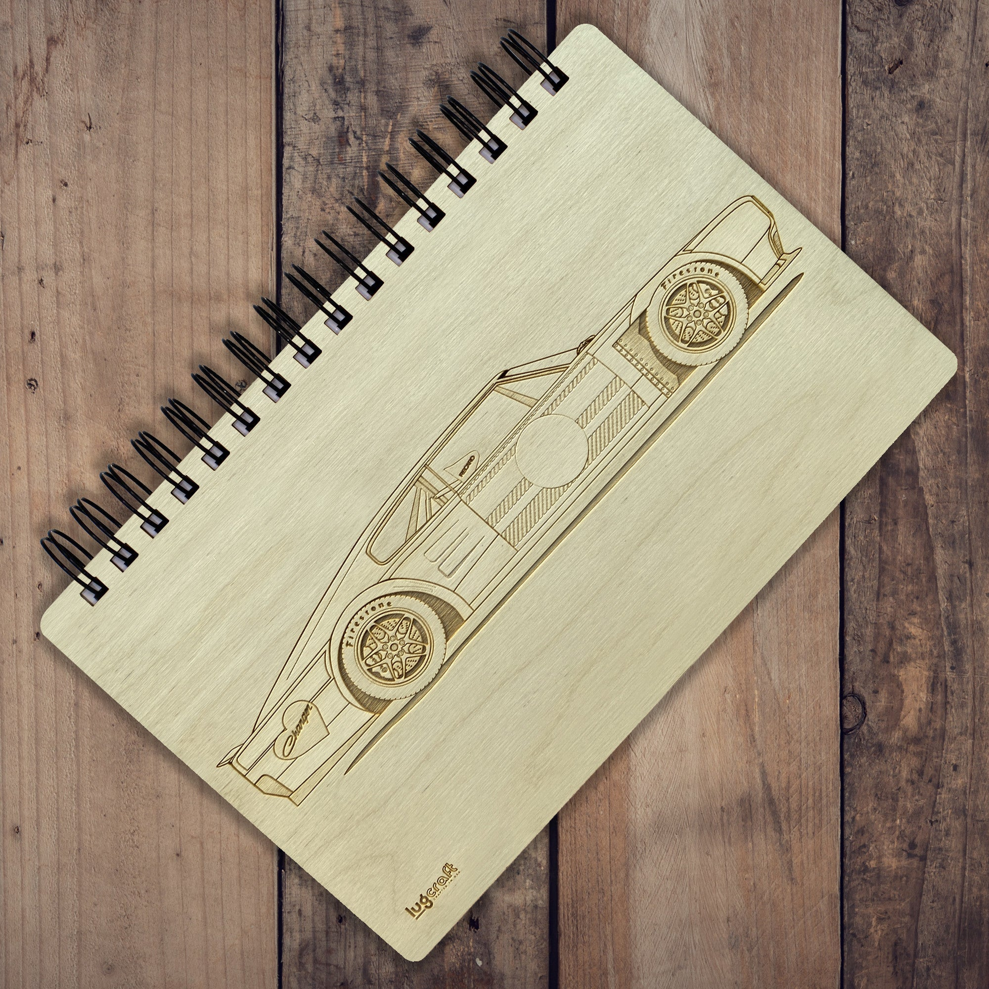 "6"" x 9"" Dodge Charger Hotrod Engraved Notebook"