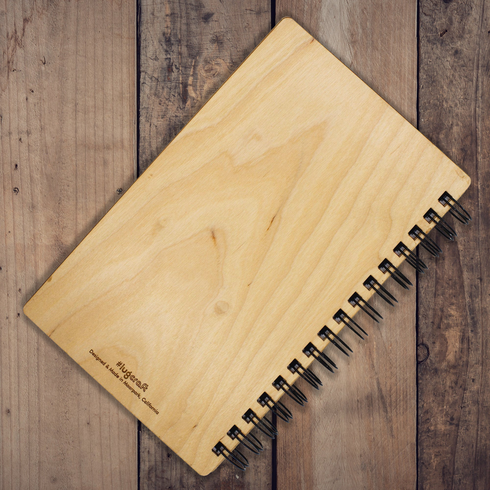 "Ford Torino Hotrod Engraved Notebook - 6"" x 9"" - Lugcraft Inc"
