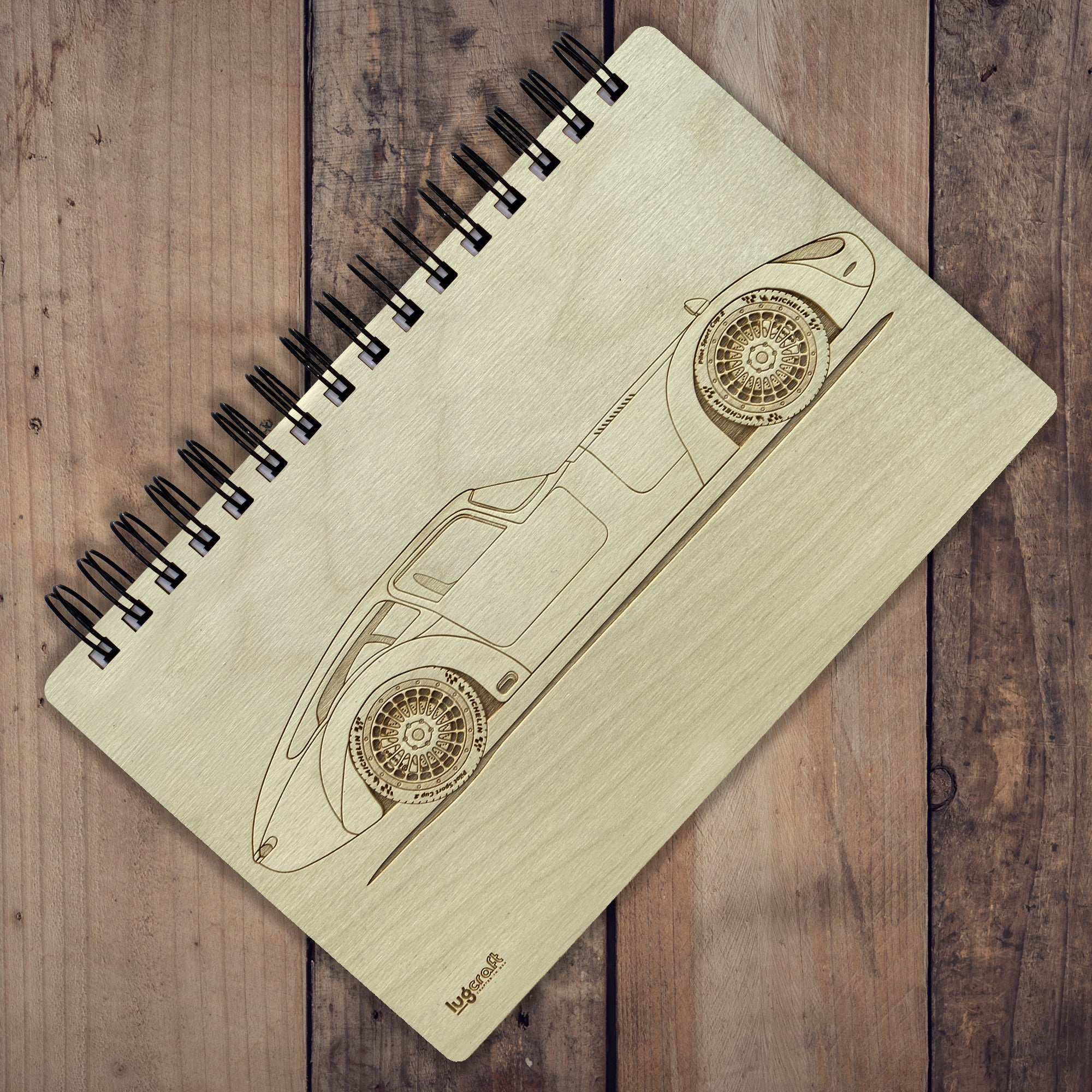 "6"" x 9"" Jaguar E-Type Engraved Notebook"