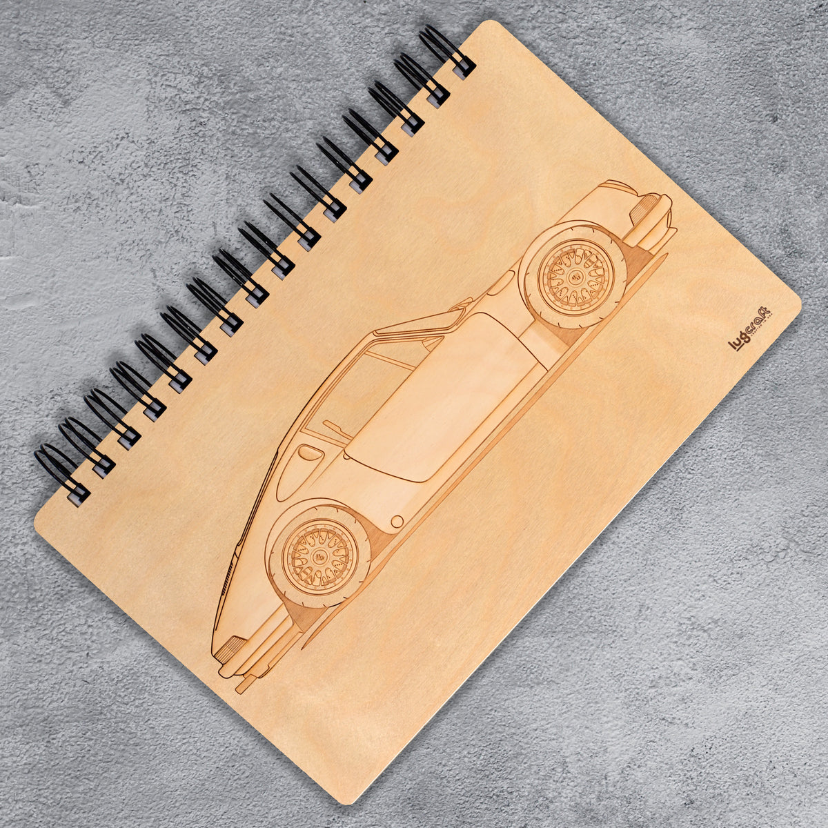 "Porsche 911 Hotrod Engraved Notebook - 6"" x 9"" - Lugcraft Inc"