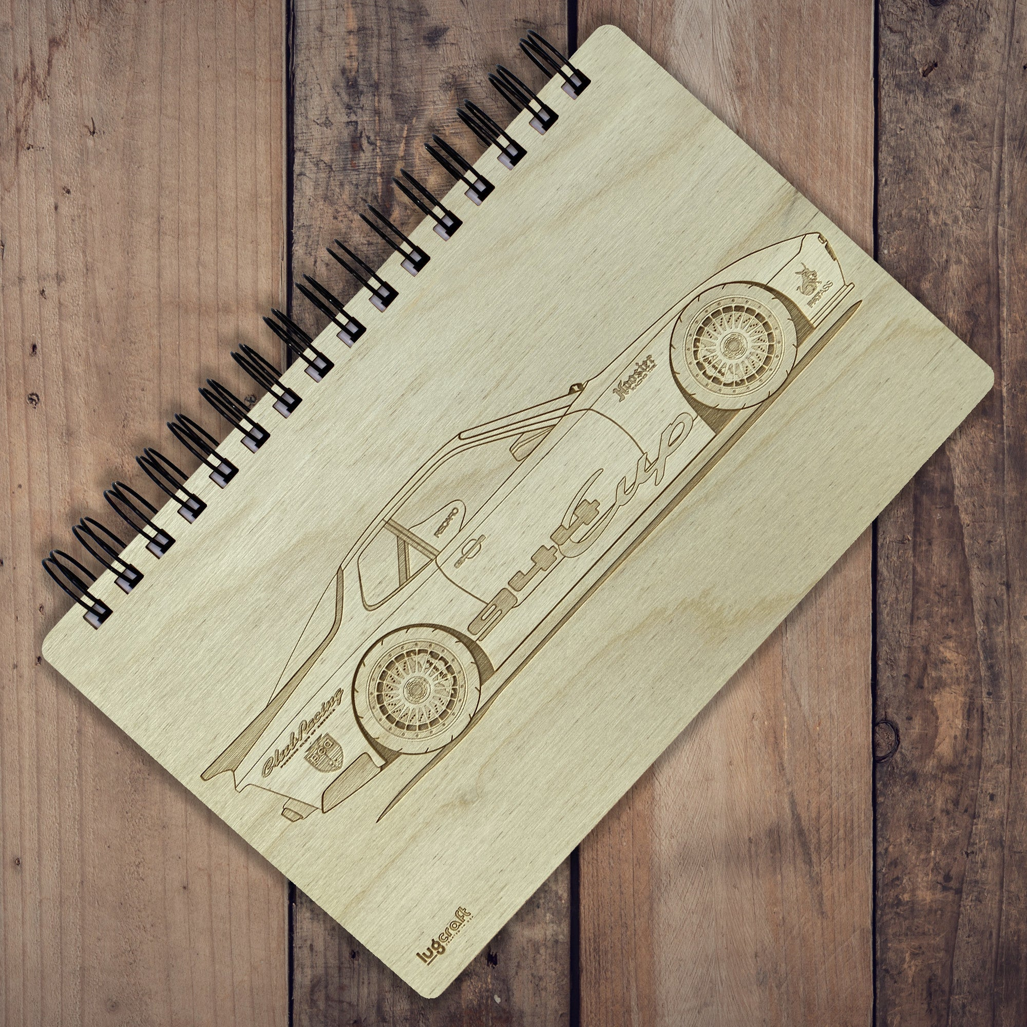 "Porsche 944 Cup Engraved Notebook - 6"" x 9"" - Lugcraft"