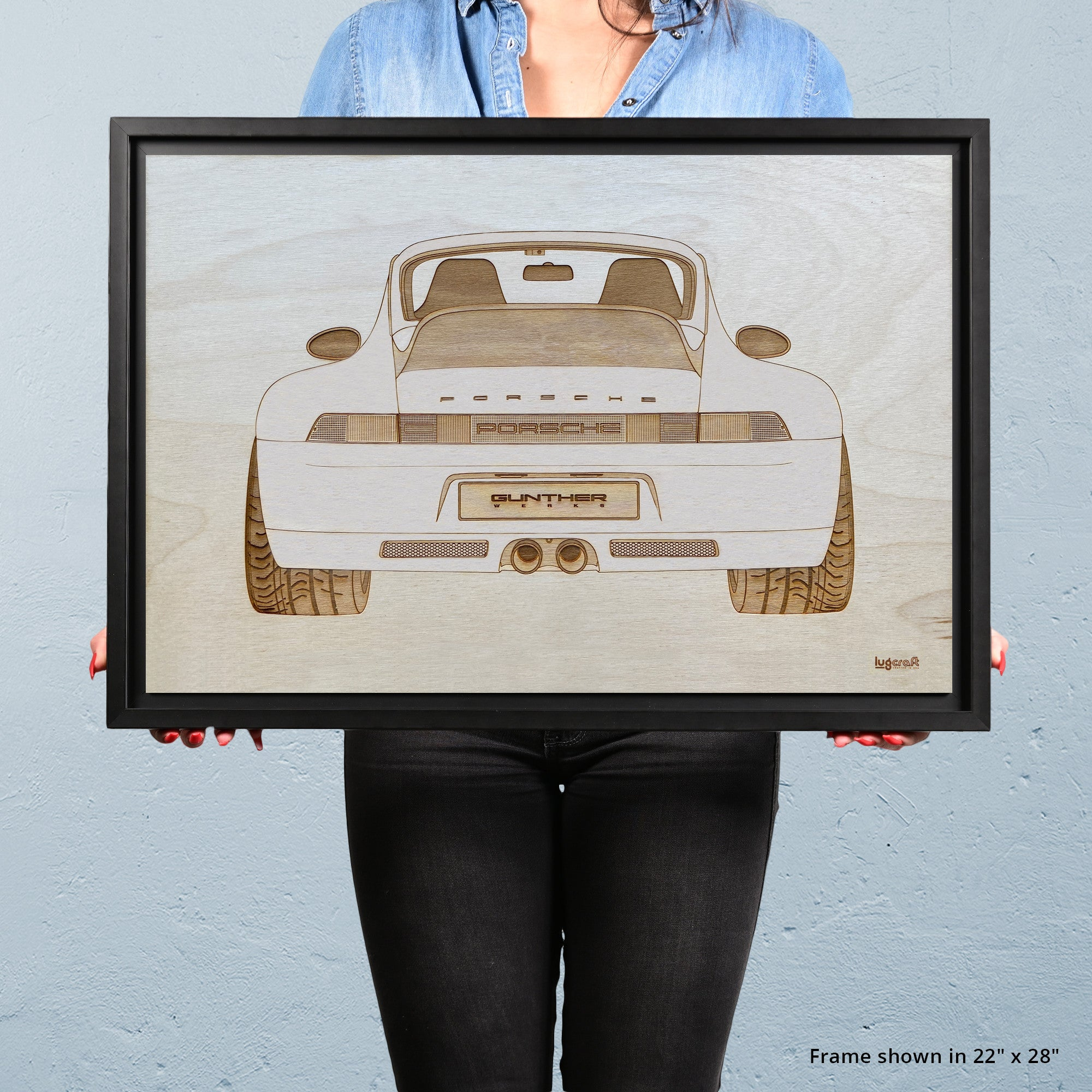 Gunther Werks 993 Framed Wood Engraved Artwork