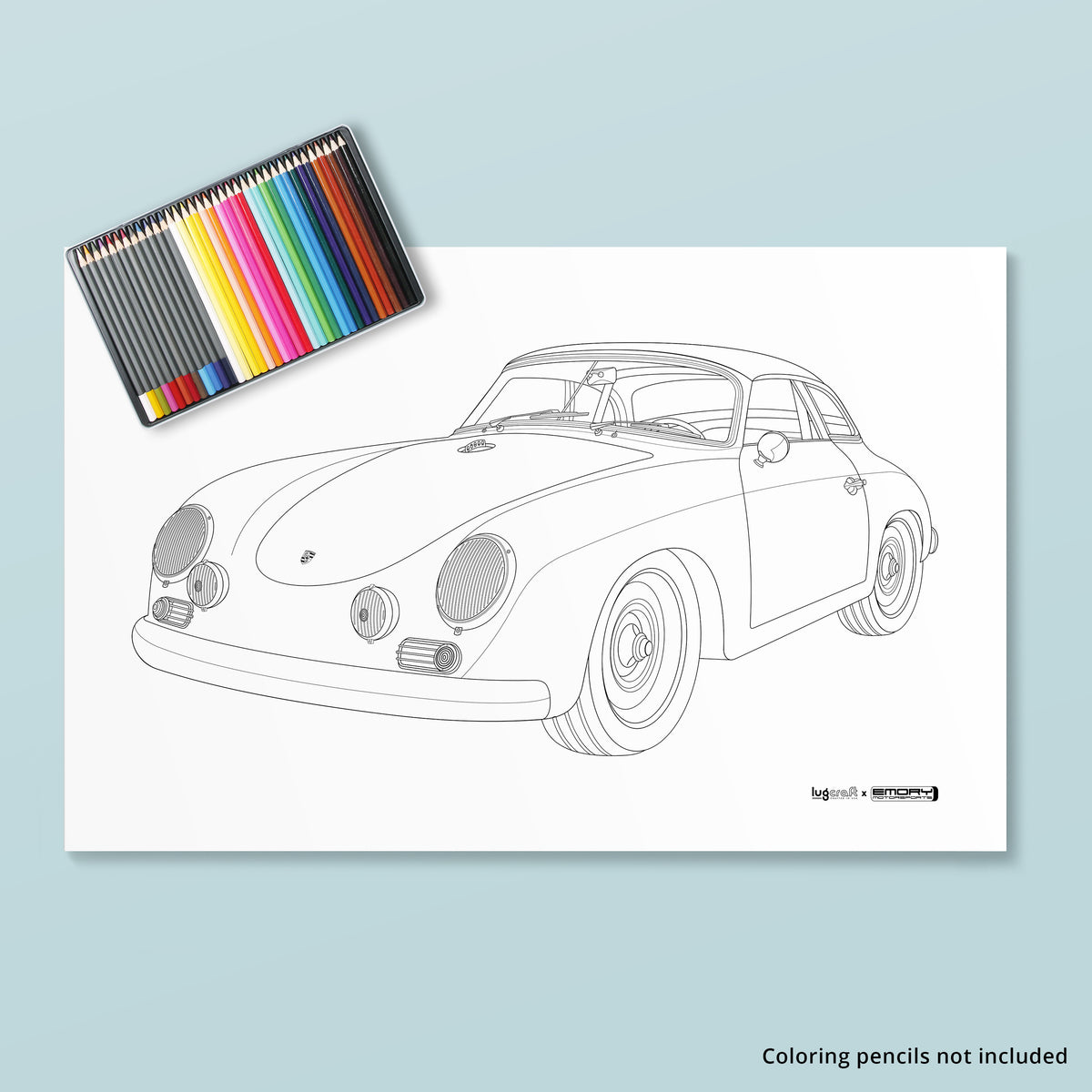EMORY SPECIAL 356 CABRIOLET COLORING POSTER - Lugcraft