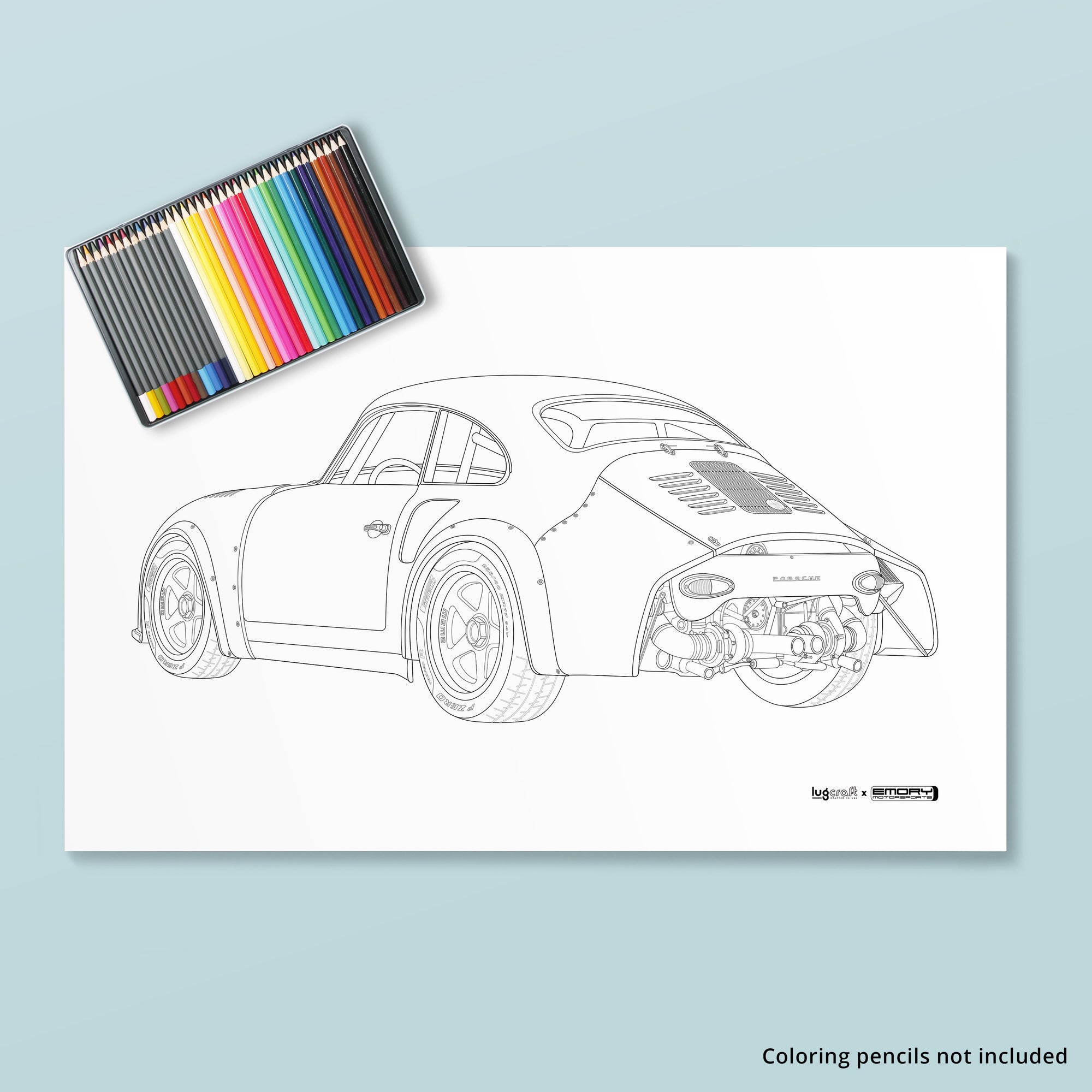 EMORY 356 RSR COLORING POSTER