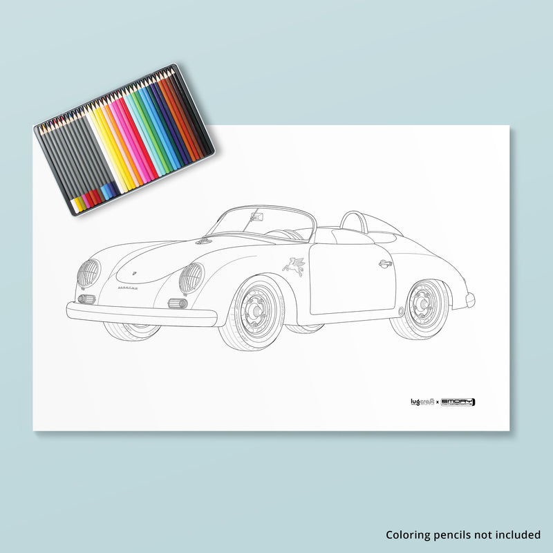 EMORY 356 SPEEDSTER COLORING POSTER