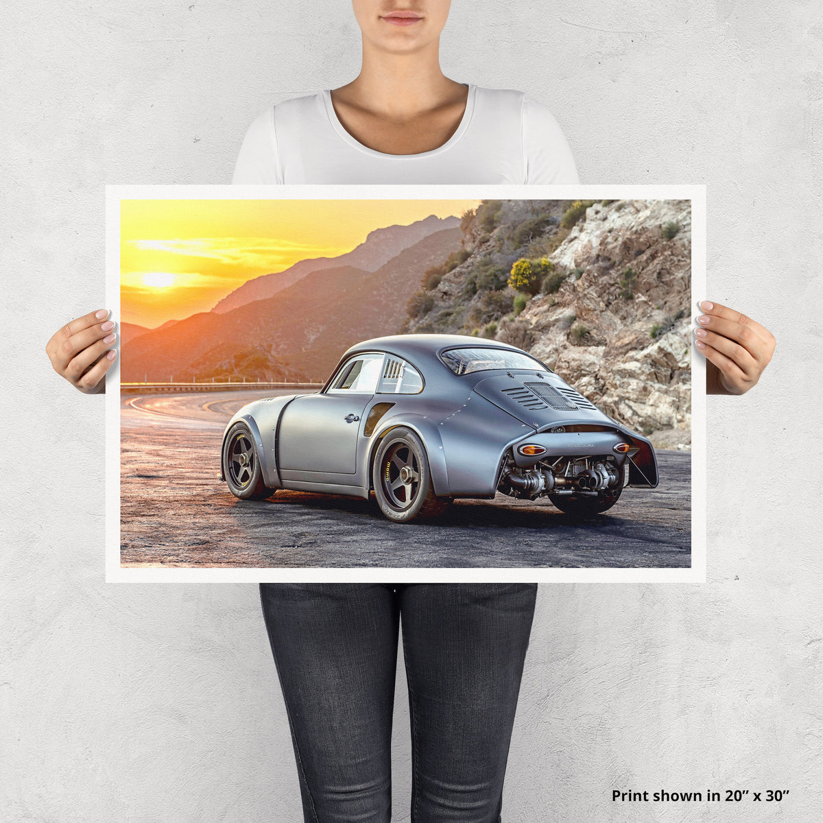 EMORY OUTLAW 1961 MOMO 356 RSR Sunset Fine Art Print - Lugcraft
