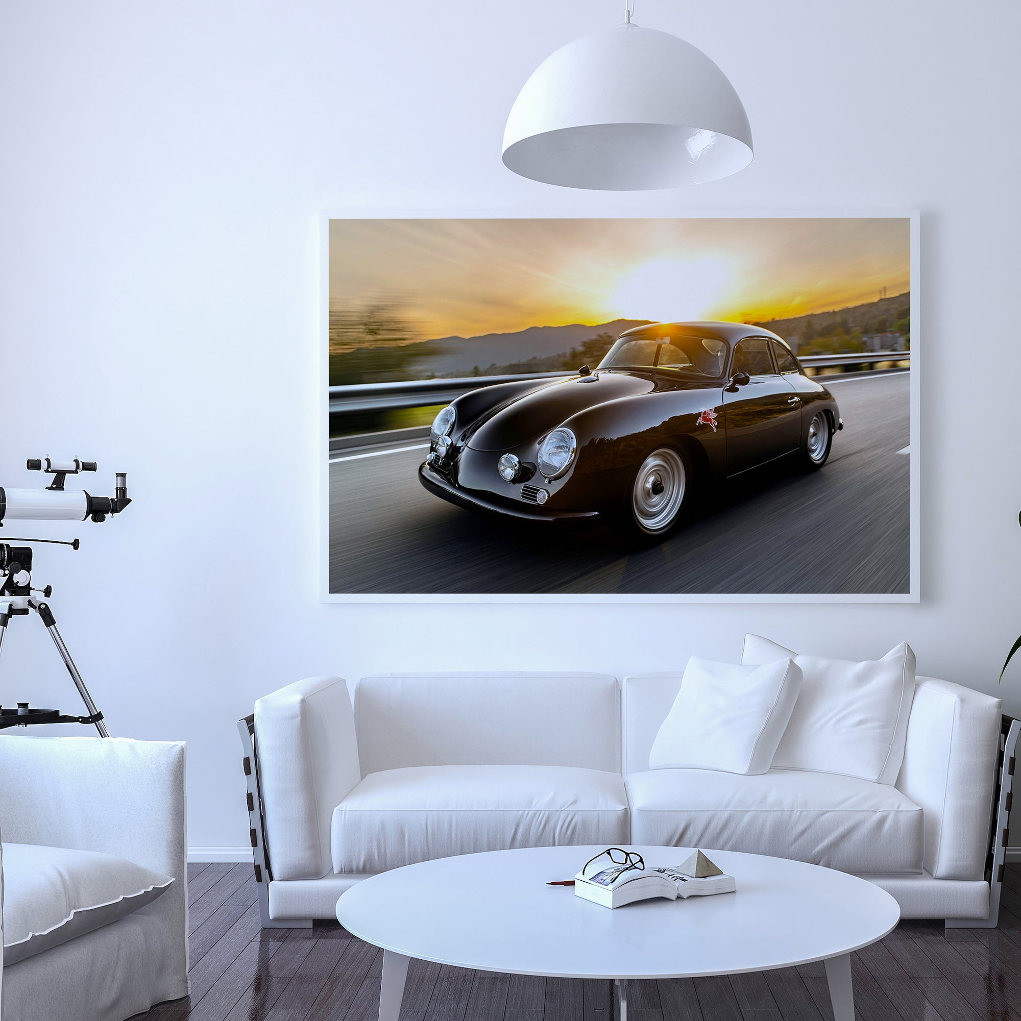 Emory Outlaw 1958 356A Special Coupe Sunset Fine Art Print - Lugcraft