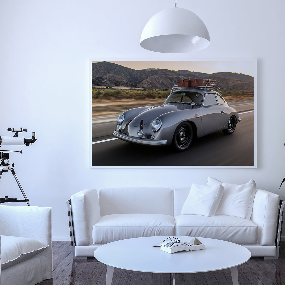 Emory Outlaw 1959A 356 Silver Coupe Fine Art Print - Lugcraft