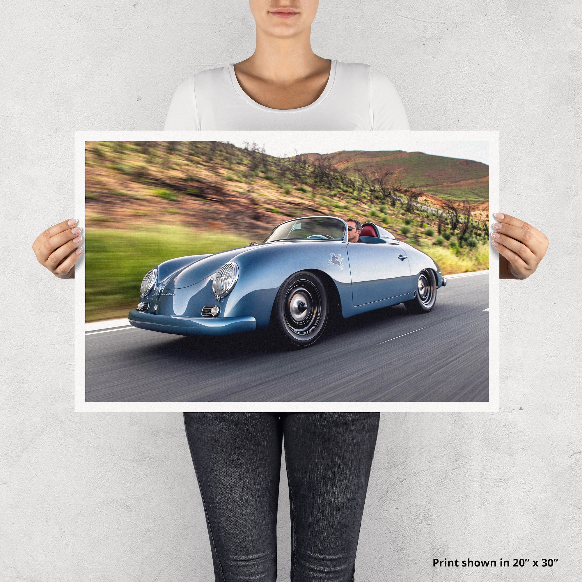 Emory Outlaw 1959 1/2 Transitional Speedster Fine Art Print - Lugcraft