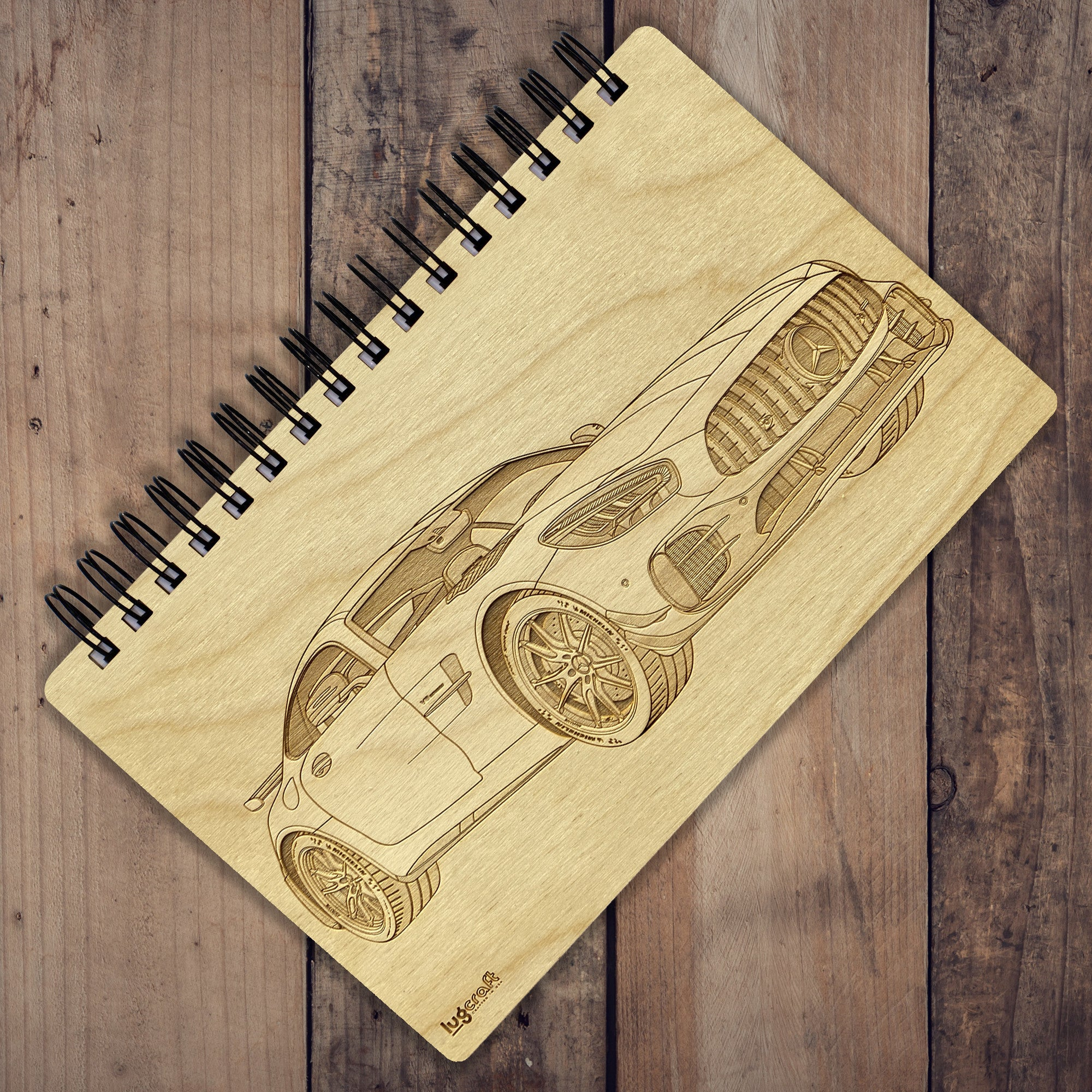 "AMG GTR Pro Engraved Notebook - 6"" x 9"" - Lugcraft Inc"