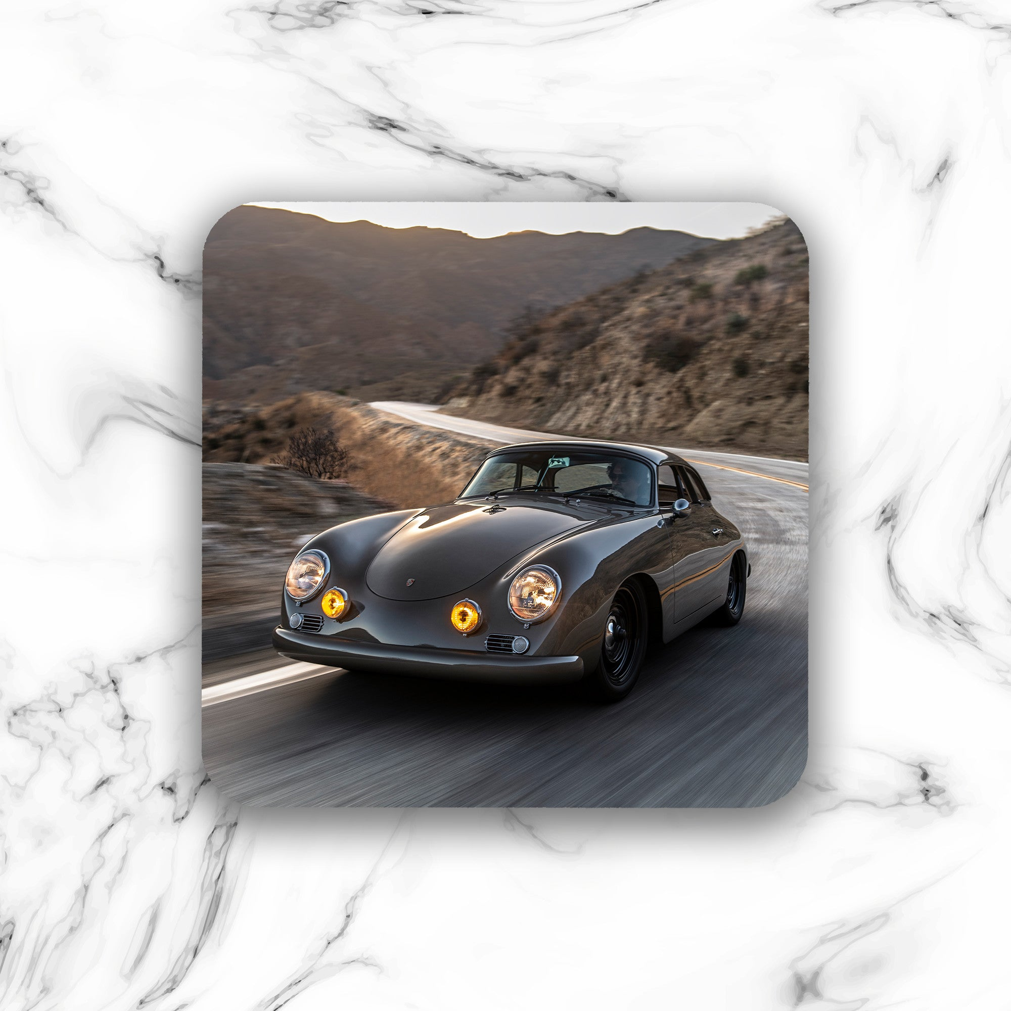 Emory Outlaw 1960 356 Special Cabriolet Drink Coaster - Lugcraft