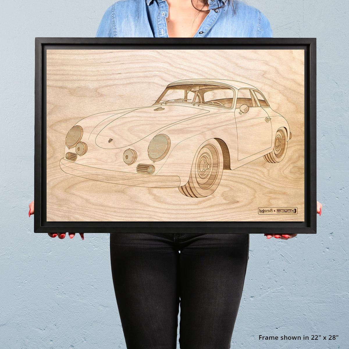 Emory Outlaw Special 356 Cabriolet Framed Wood Engraved Artwork - Lugcraft