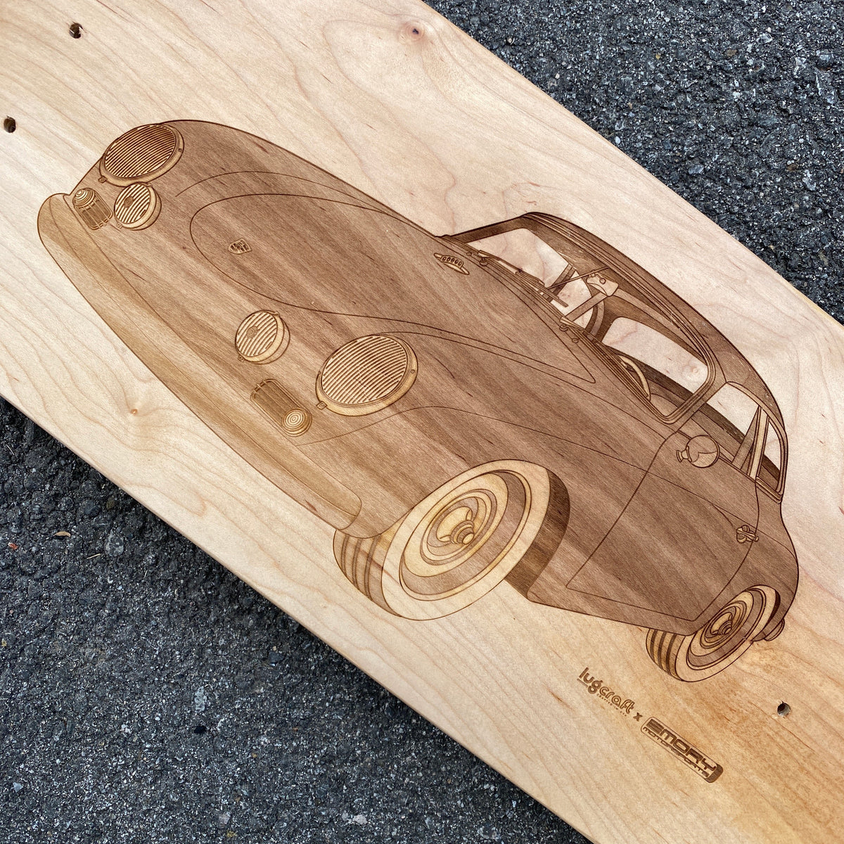 Emory Outlaw 356 Special Cabriolet Skateboard Deck Art - Lugcraft