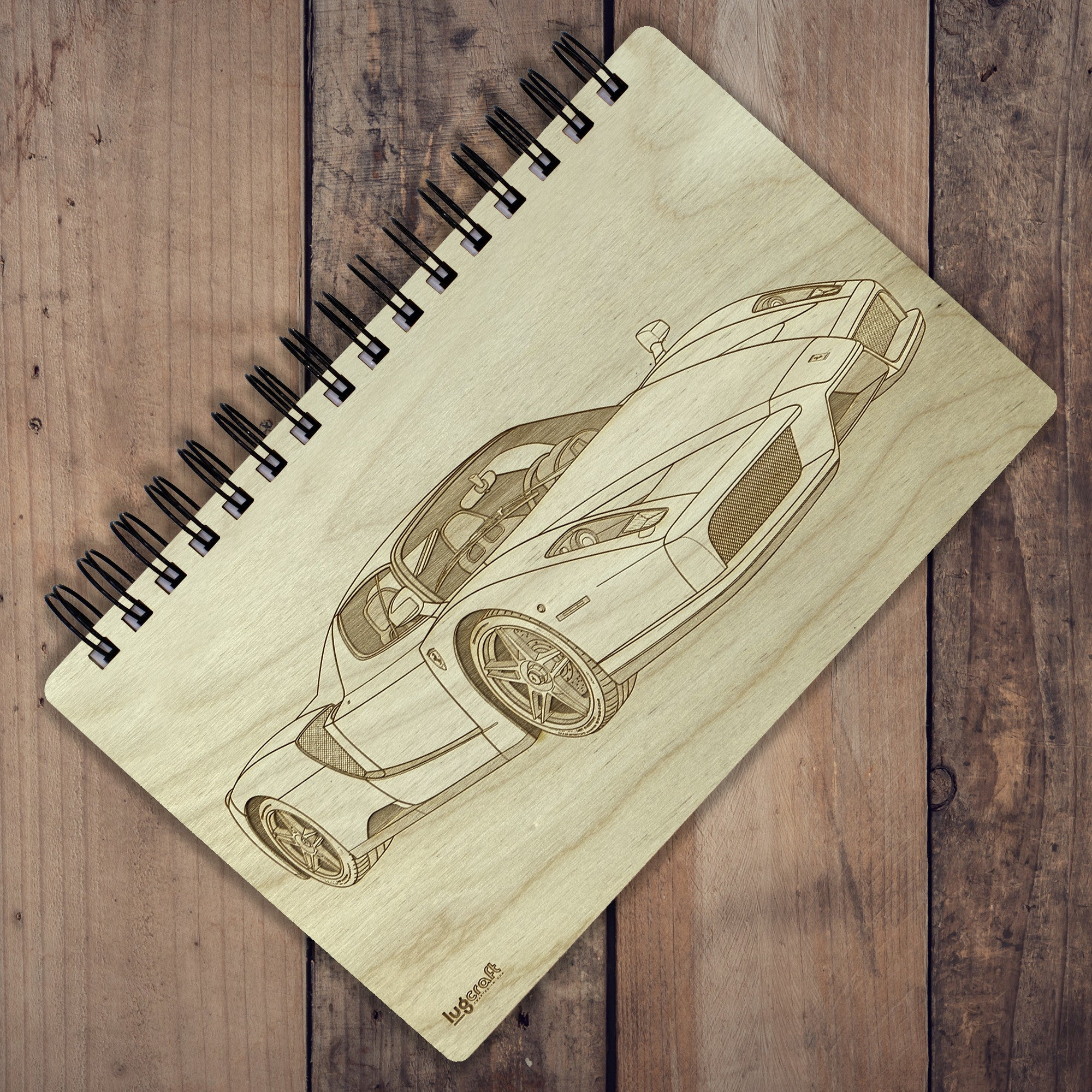"Ferrari Enzo Engraved Notebook - 6"" x 9"" - Lugcraft Inc"