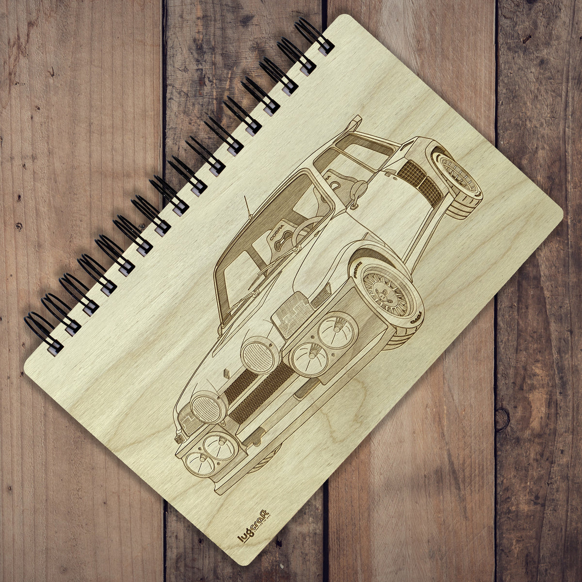 "Renault 5 Turbo Engraved Notebook - 6"" x 9"" - Lugcraft Inc"