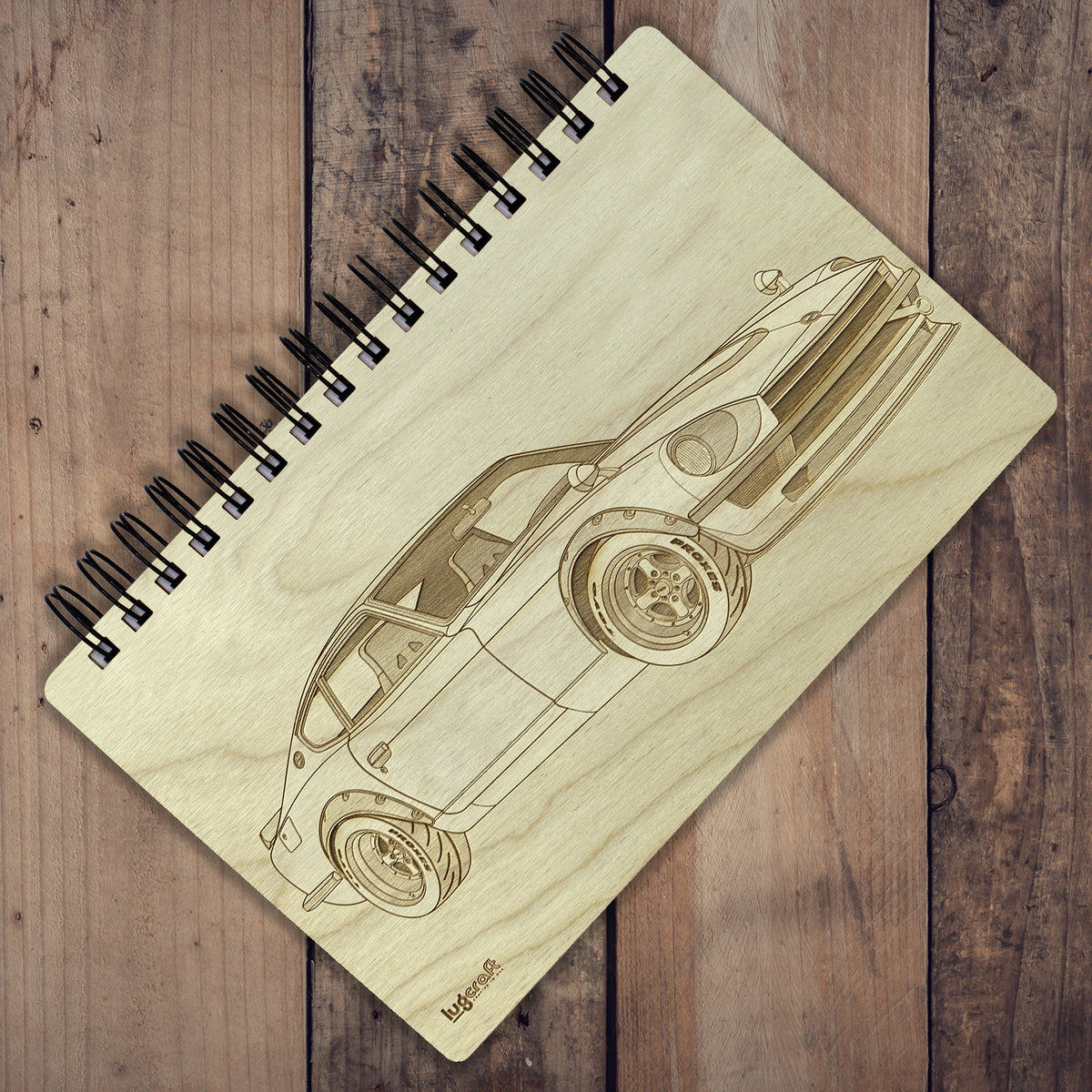 "Datsun 240z Fairlady Engraved Notebook - 6"" x 9"" - Lugcraft"