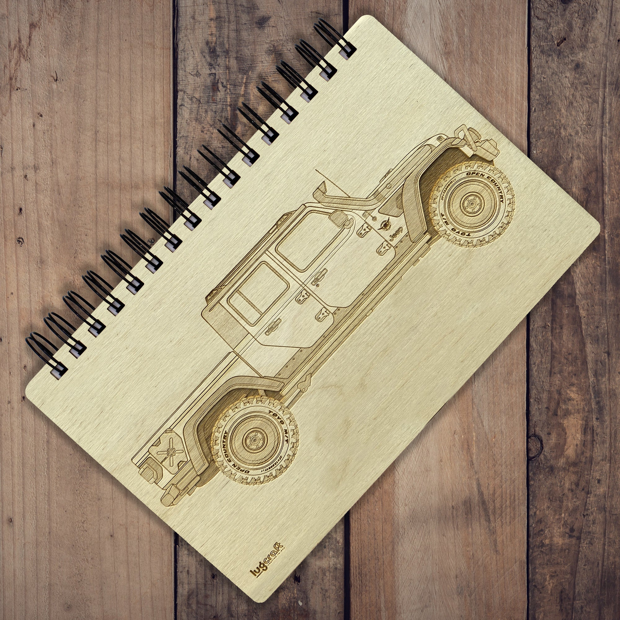 "Jeep Gladiator Engraved Notebook - 6"" x 9"" - Lugcraft"