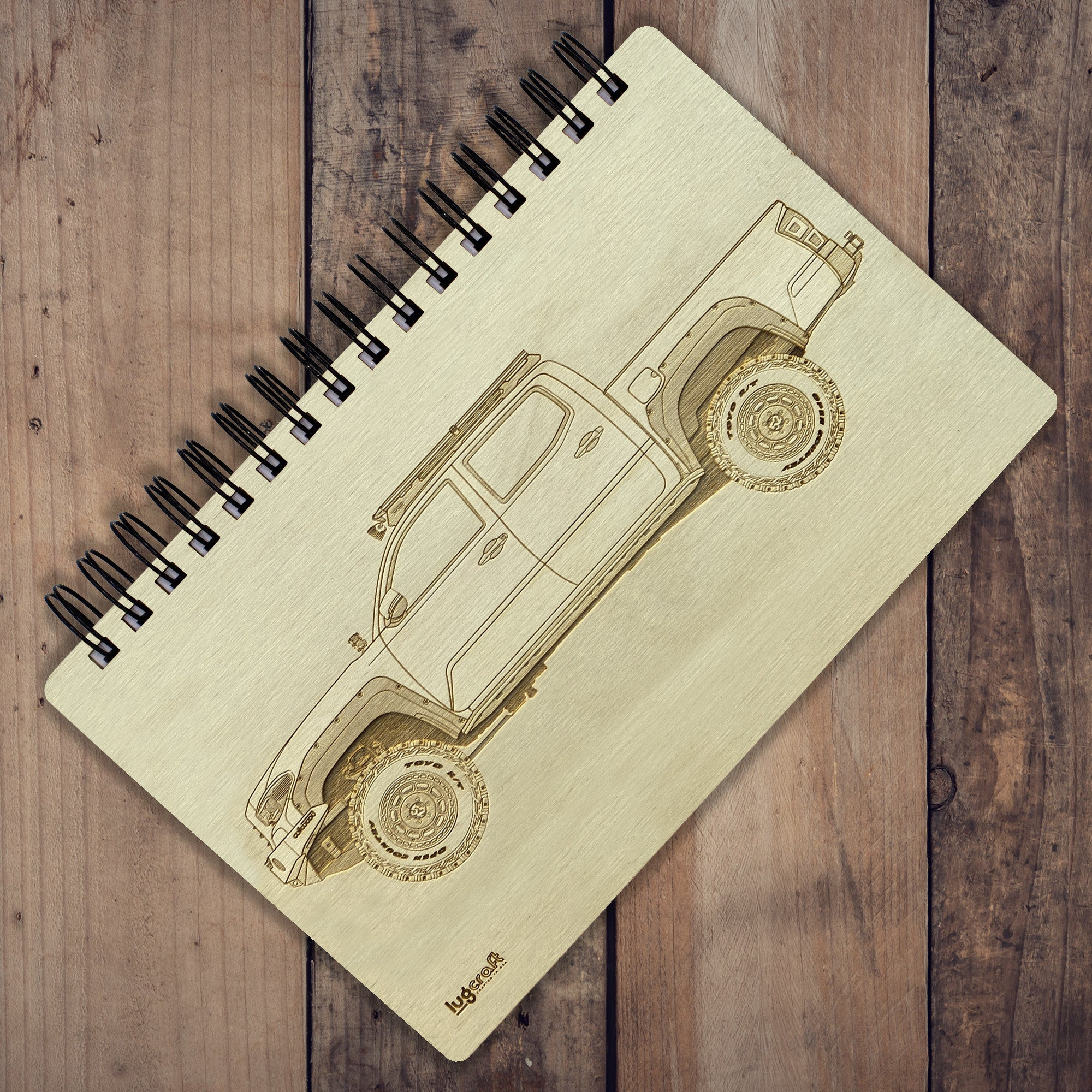 "Toyota Tacoma Engraved Notebook - 6"" x 9"" - Lugcraft Inc"