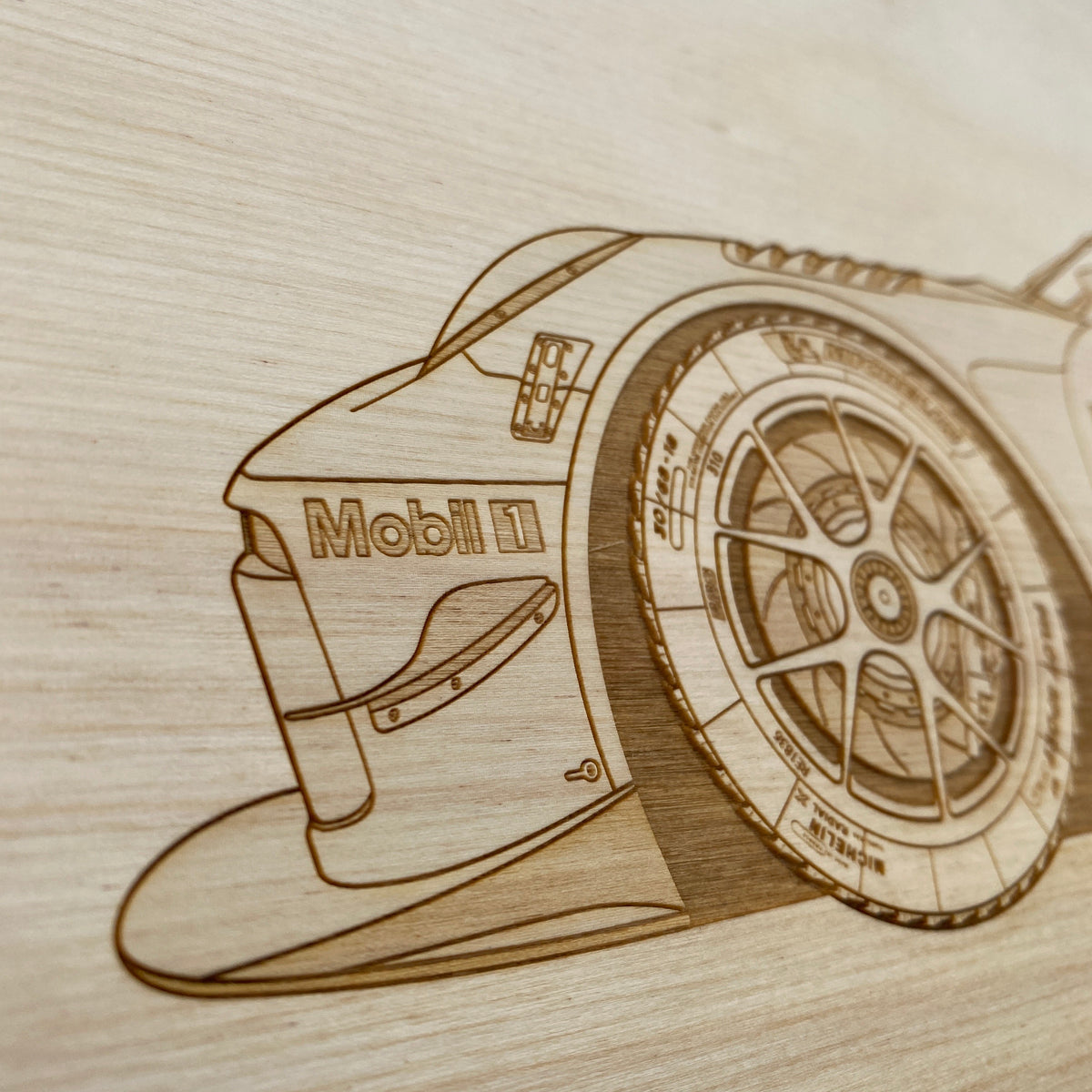 Porsche 911 GT3R Livery Framed Wood Engraved Artwork