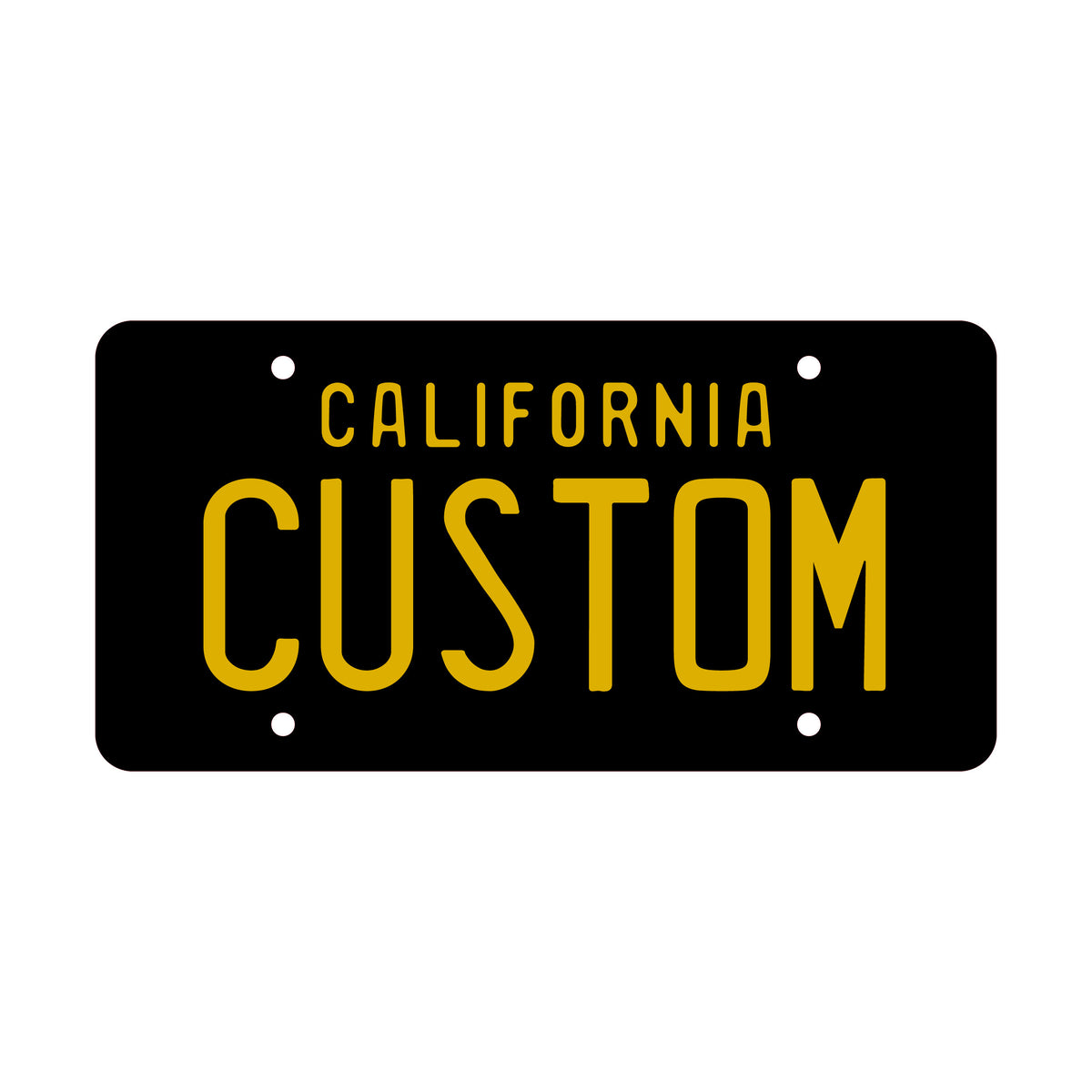 "3D Custom Personalized License Plates - 6"" x 12"" - Lugcraft Inc"