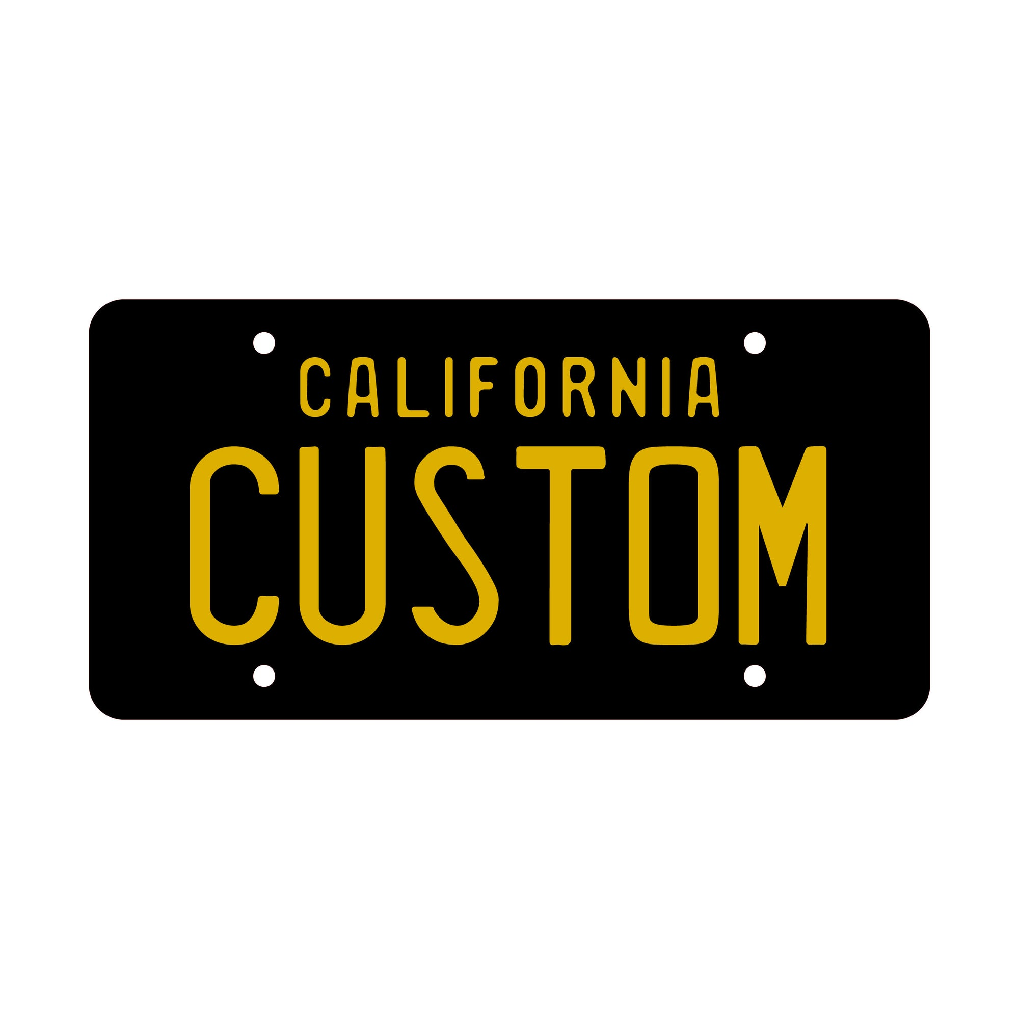 "3D Custom Personalized License Plates - 6"" x 12"" - Lugcraft"