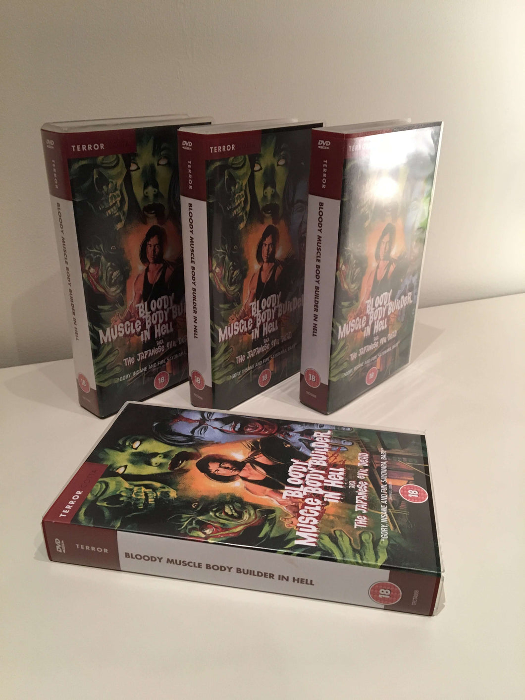 Bloody Muscle Body Builder in Hell VHS tape