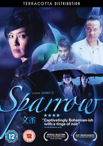 Sparrow, DVD, Blu-Ray, Johnnie To, Simon Yam, Kelly Lin, Lam Kar Tung, Lo Hoi Pang, Law Wing Cheong, Lam Suet, Romance, Drama, Comedy, Cantonese Comedy, Hong-Kong cinema, Terracotta Distribution