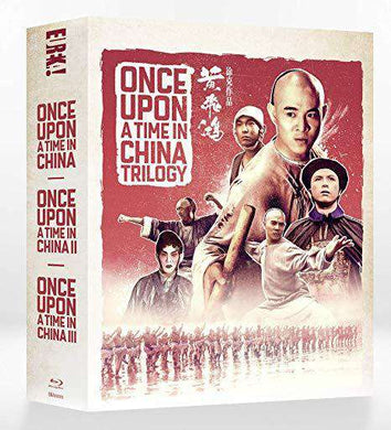 Once Upon A Time In China trilogy box set, collector edition, blu ray, Jet Li, Rosamund Kwan, Eureka Classics