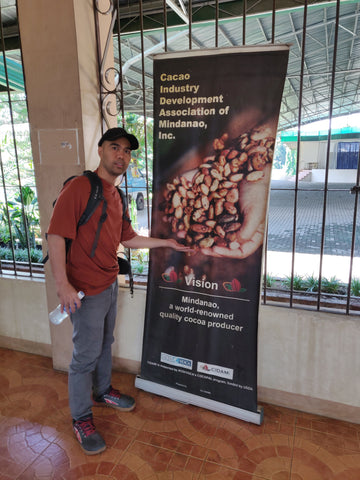 Chris Uson, founder of Filo Artisan Trade, at the CIDAMI headquarters
