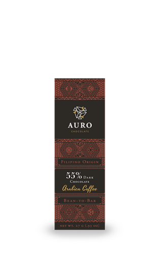 55% Dark Chocolate with Benguet Arabica 27G