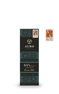 64% Dark Chocolate with Cocoa Nibs 27g