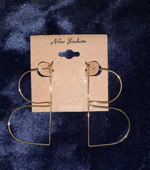 Gold B Earrings