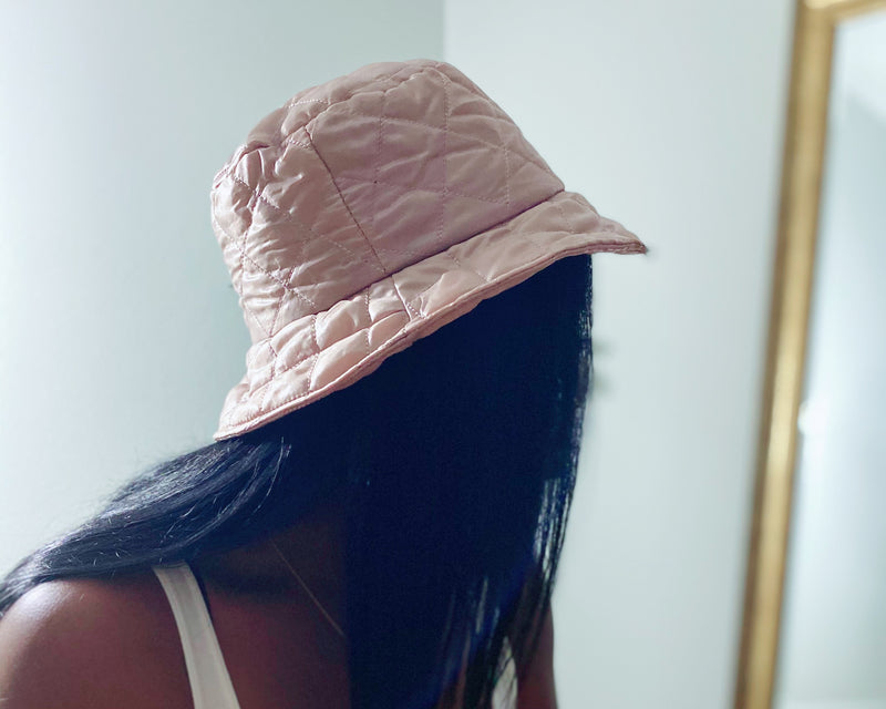 Khaki Quilted Bucket Hat