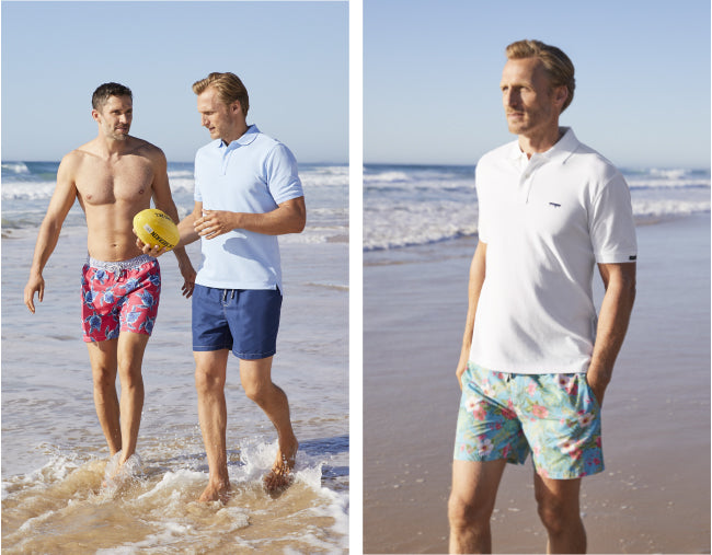 Men's Beach Shorts and Polos at GAZMAN