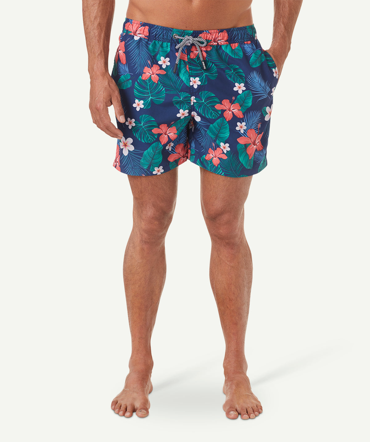 Torpical Hibiscus Beach Shorts | Father's Day gifts | Beanstalk Single Mums