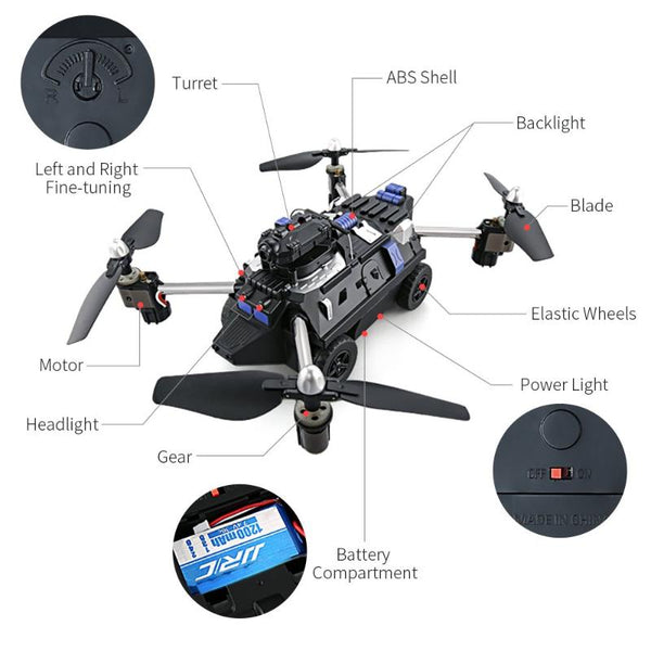 RC quadcopter car drone helicopter - SALEONE