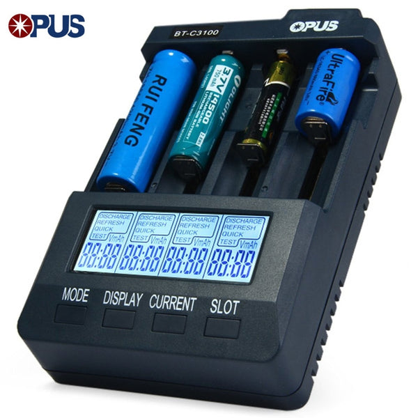 Universal Battery Charger (4 LCD Slots)