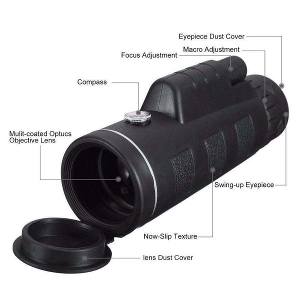 HD Zoom Monocular Telescope With Phone Holder and Tripod For All Phone