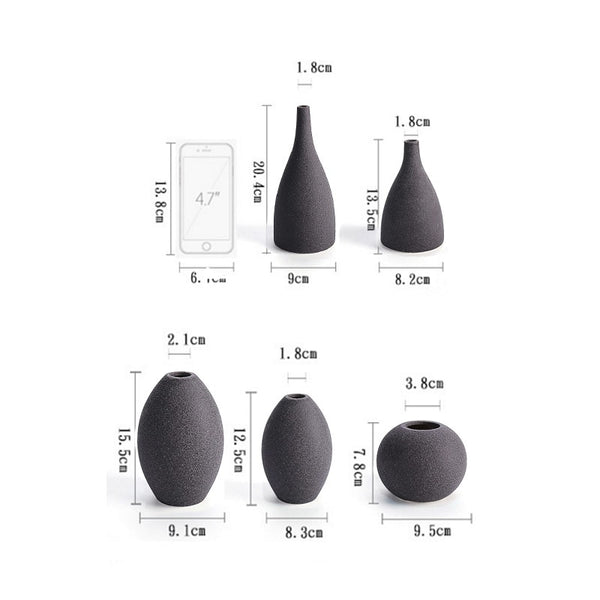 European Modern Frosted Ceramic Vases - SALEONE