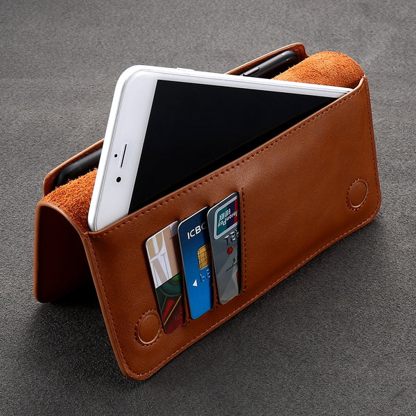 Leather Wallet with a Smartphone Pocket