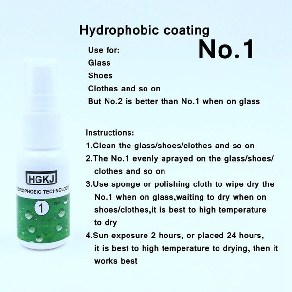 Liquid glass hydrophobic coating - SALEONE